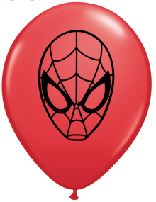 "5"" Spider-Man Face Red Latex Balloons - 100ct"