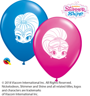 "5"" Shimmer and Shine Faces Assortment Latex Balloons - 100ct"