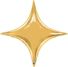"40"" Metallic Gold Starpoint Foil Balloon"