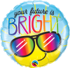 "18"" Your Future Is Bright Foil Balloon - Pkg"