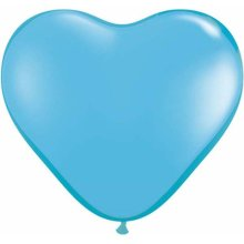 "6"" Pale Blue Heart Latex Balloons - 100ct"
