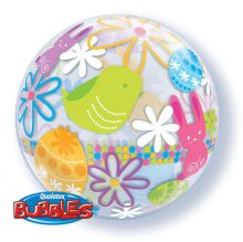 "22"" Spring Bunnies & Flowers Bubble Balloon"