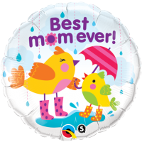 "18"" Best Mom Ever Raindrops Foil Balloon - Unpkg"