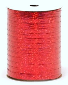 "Red Holographic Curling Ribbon - 3/16"" x 100yds"