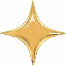"20"" Metallic Gold Starpoint Air-Fill Foil Balloon"