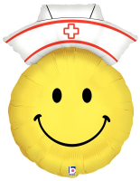 "28"" Smiley Nurse Shape Foil Balloon"