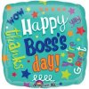 "18"" Happy Boss's Day Messages Foil Balloon - Pkg"