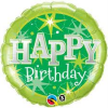 "18"" Birthday Sparkle Green Foil Balloon - Pkg"
