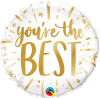 "18"" You're the Best Gold Foil Balloon - Pkg"