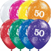 "11"" 50-A-Round Jewel Assortment Latex Balloons - 50ct"