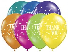 "11"" Thank You Thank You Confetti Latex Balloons - 50ct"