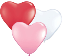 "6"" Hearts Sweetheart Assortment Latex Balloons - 100ct"
