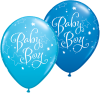 "11"" Baby Boy Stars Assorted Latex Balloons - 50ct"