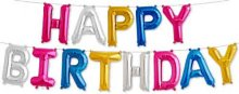 "16"" Happy Birthday Air-Fill Multi Color Letter Kit"