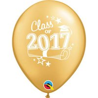 "11"" Class of 2017 Latex Balloons - Gold"