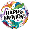 "18"" Birthday Colorful Dinosaurs Foil Balloons - Pkg"