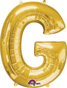 "34"" Gold Letter G SuperShape Foil Balloon"