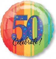 "18"" A Year to Celebrate 50 Foil Balloon - Pkg"