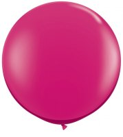 3ft Jewel Magenta Latex Balloons - 2ct