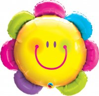 "32"" Funny Face Flower Shape Foil Balloon"