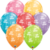 "11"" Birthday-A-Round Festive Assort Latex Balloons - 50ct"