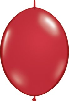 "6"" Ruby Red QuickLink Latex Balloons - 50ct"