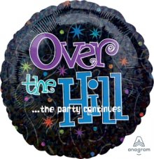 "18"" The Party Continues Over the Hill Holographic Foil Balloon"
