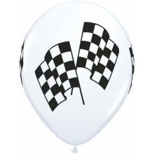 "11"" Racing Flags Latex Balloons - 50ct"