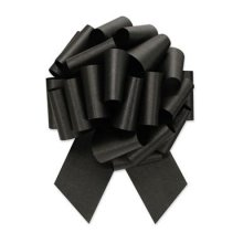 "4"" Black Pull-String Bow"