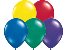 "11"" Radiant Jewel Assortment Latex Balloons - 100ct"