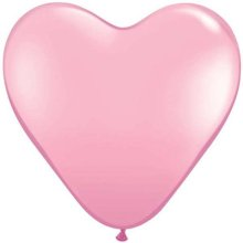 "6"" Pink Heart Latex Balloons - 100ct"