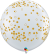 3ft Confetti Dots on Diamond Clear Latex Balloons - 2ct
