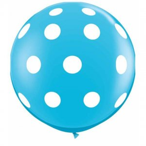 3ft Big Polka Dots-A-Round Robin's Egg Blue Balloons - 2ct