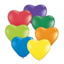 "6"" Hearts Carnival Assortment Latex Balloons - 100ct"