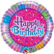 "18"" Birthday Sprinkles & Sparkles Foil Balloon - Pkg"
