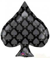 Black Spade Junior Shape Foil Balloon