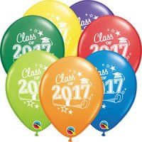 "11"" Class of 2017 Carnival Assortment Latex Balloons - 50ct"