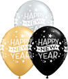 "11"" New Year Confetti Dots Assorted Latex Balloons - 50ct"