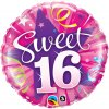 "18"" Sweet 16 Shining Star Foil Balloon - Pkg"