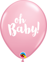 "11"" Oh Baby! Pink Latex Balloons - 50ct"