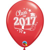"11"" Class of 2017 Latex Balloons - Red"
