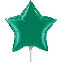 "9"" Emerald Green Star Air-Fill Foil Balloon"