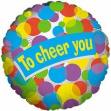 "18"" Lots of Dots - To Cheer You Foil Balloon - Pkg"