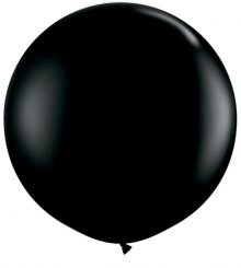 3ft Onyx Black Latex Balloons - 2ct
