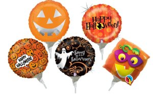 "9"" Pre-Inflated Halloween Assorted Balloons - 5ct"