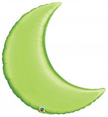 "35"" Lime Green Crescent Moon Foil Balloon"