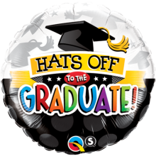 "18"" Hats Off To The Graduate! Foil Balloon"