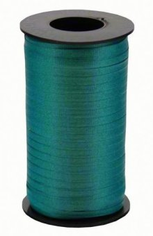 "Teal Wide Crimped Curling Ribbon - 3/8"" x 250yds"