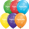 "11"" Congratulations Star Streamers Latex Balloons - 50ct"