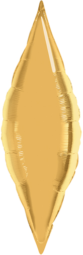 "38"" Metallic Gold Solid Taper Foil Balloon"
